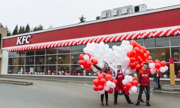 Торжественные открытия ресторанов KFC